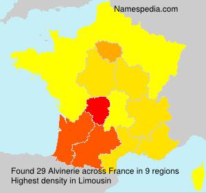 Surname Alvinerie in France