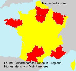 Surname Alzard in France