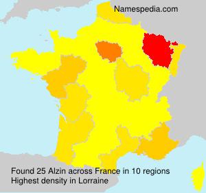 Familiennamen Alzin - France
