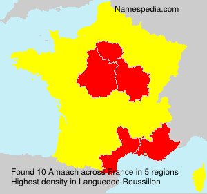 Surname Amaach in France