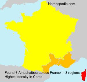Familiennamen Amachaibou - France