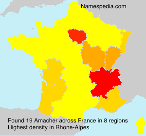 Familiennamen Amacher - France