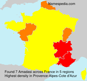 Surname Amadasi in France