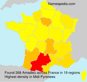 Familiennamen Amadieu - France