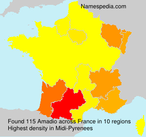 Surname Amadio in France