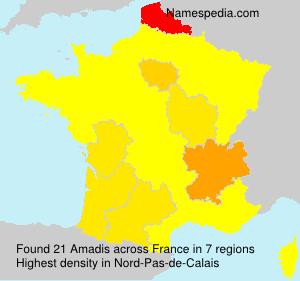 Familiennamen Amadis - France