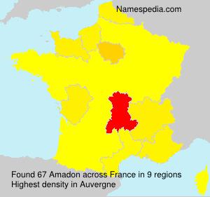 Familiennamen Amadon - France