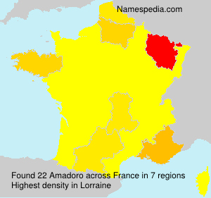 Surname Amadoro in France