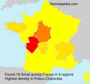Surname Amail in France