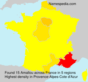 Surname Amallou in France