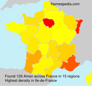 Surname Aman in France
