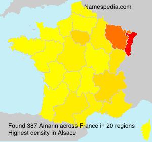 Familiennamen Amann - France
