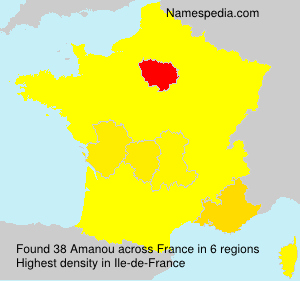 Surname Amanou in France