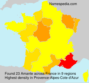 Surname Amante in France