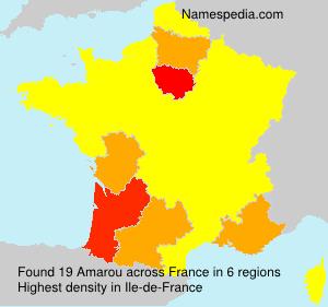 Surname Amarou in France