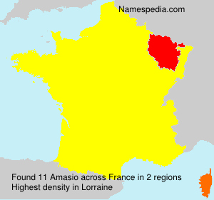 Surname Amasio in France