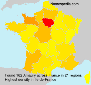 Surname Amaury in France