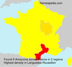 Surname Amazonia in France
