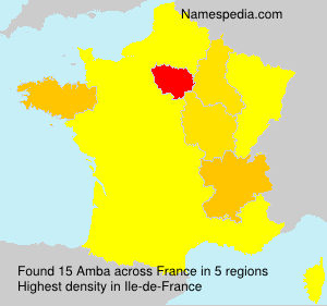 Surname Amba in France