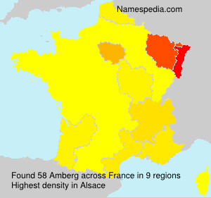 Surname Amberg in France