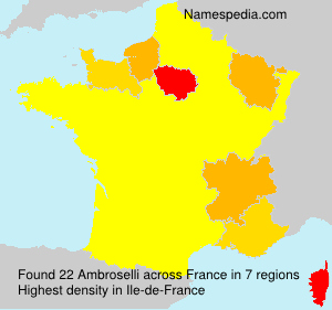 Surname Ambroselli in France