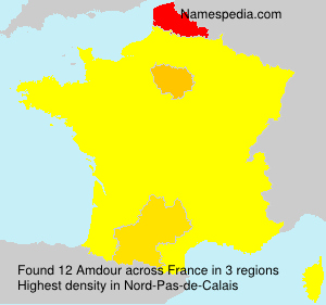 Surname Amdour in France