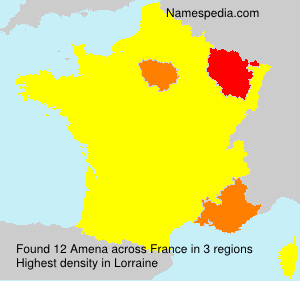 Surname Amena in France