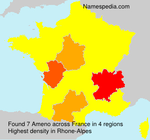 Surname Ameno in France