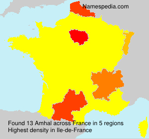 Surname Amhal in France