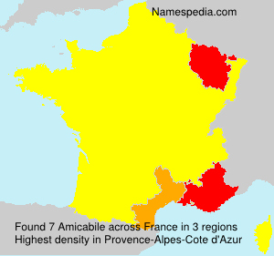 Surname Amicabile in France