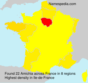 Surname Amichia in France