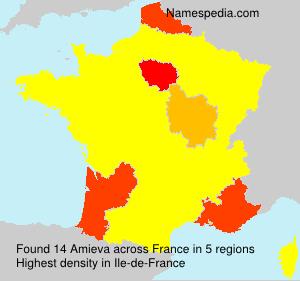 Surname Amieva in France