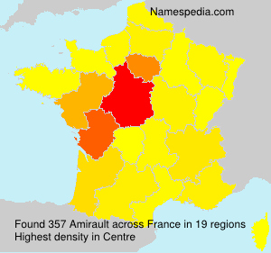 Surname Amirault in France