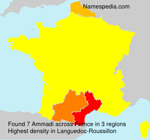 Surname Ammadi in France