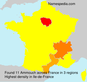 Surname Ammouch in France