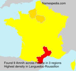 Familiennamen Amnih - France