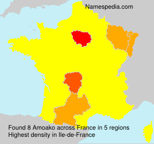 Surname Amoako in France