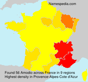 Surname Amodio in France