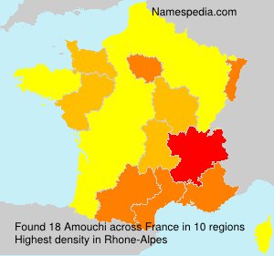 Surname Amouchi in France