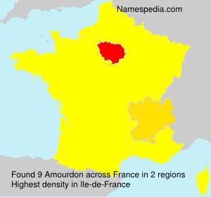 Familiennamen Amourdon - France