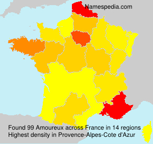 Surname Amoureux in France