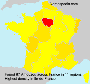 Surname Amouzou in France