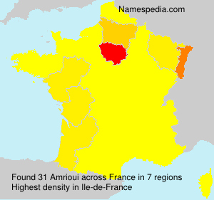 Surname Amrioui in France