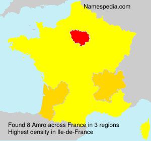 Surname Amro in France
