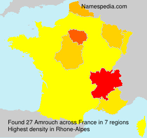 Surname Amrouch in France