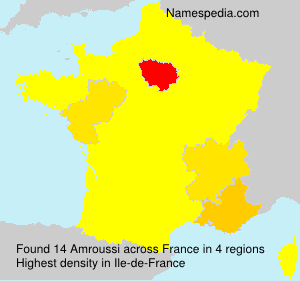 Surname Amroussi in France