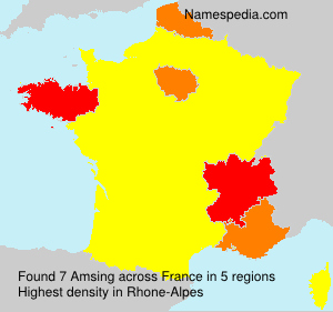 Surname Amsing in France