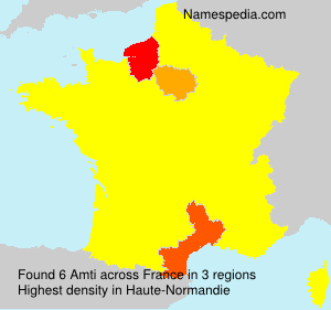 Surname Amti in France