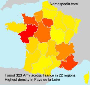 Familiennamen Amy - France