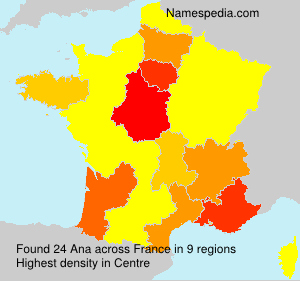Surname Ana in France